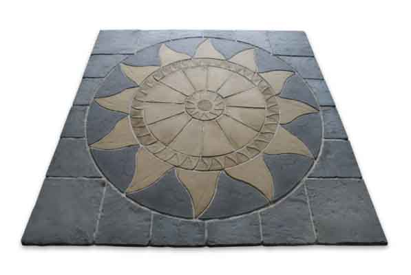 Easypave Aztec Sun Circle Paving