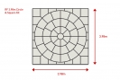 Calibrated 3.98 metre circle including square kit: