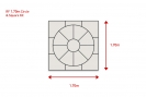 1.70 metre circle including square kit: